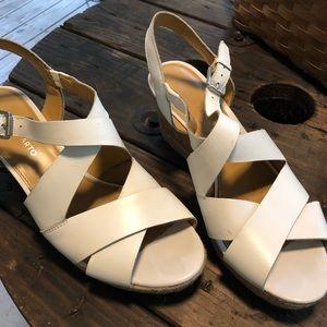 Franco Sarto White Sandals